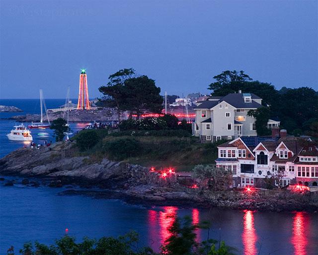 Harbor Illumination and Lighthouse
